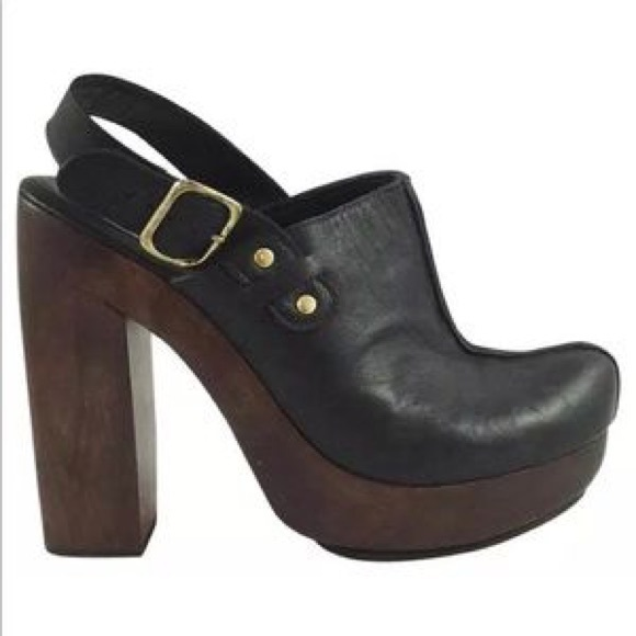 original for sale Calleen Cordero Leather Round-Toe Clogs outlet view uuc3fkjaY